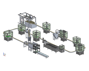 CONTINUOUS ROTARY FILLING MACHINE